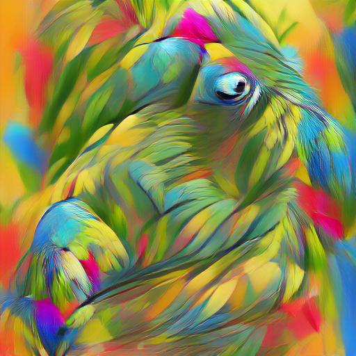 'digital art of a colorful parrot' VQGAN+CLIP codebook Text-to-Image