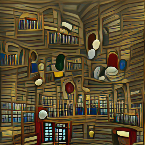 'a library' VQGAN+CLIP codebook Text-to-Image