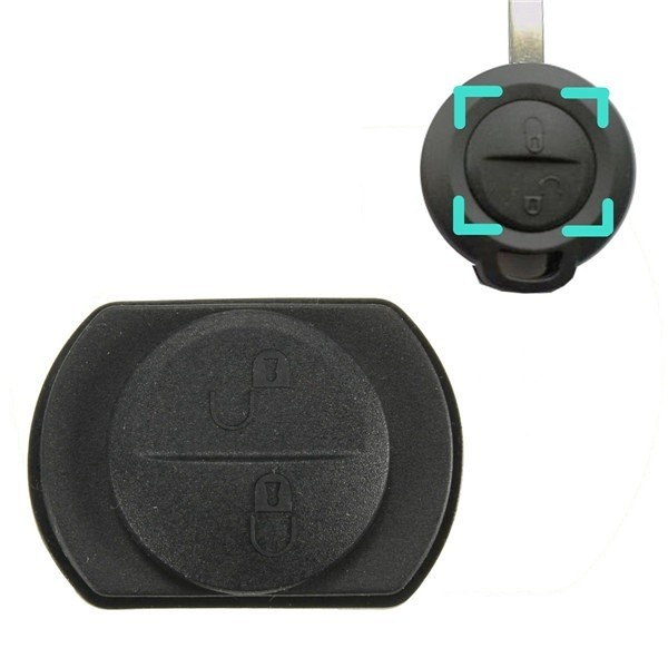 Smart ForFour 454 2 Buttons Replacement Remote Key Case Fob Button Rubber Pad