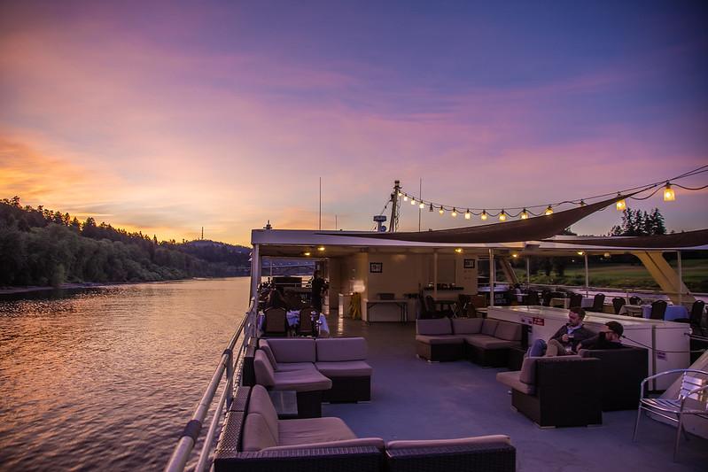 top deck views during sunset