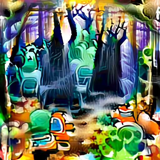 'a spooky forest' Aleph2Image Delta Text-to-Image