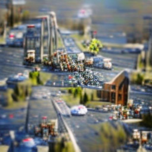 'a tilt shift photo of traffic' VQGAN+CLIP z-quantize Text-to-Image