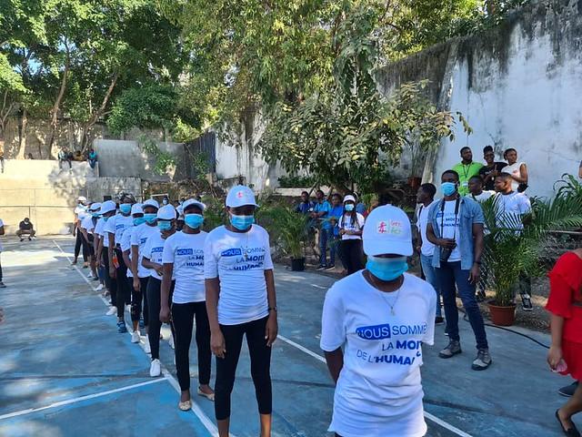 2021 - Girls Act - AHF Haiti - VOW Flash Mob - French Embassy