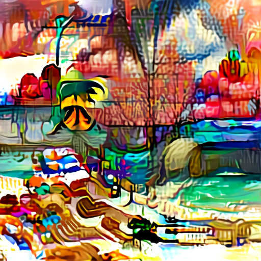 'a tropical beach' Aleph2Image Delta Text-to-Image