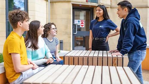 Student Living Ambassadors at arrivals week.
