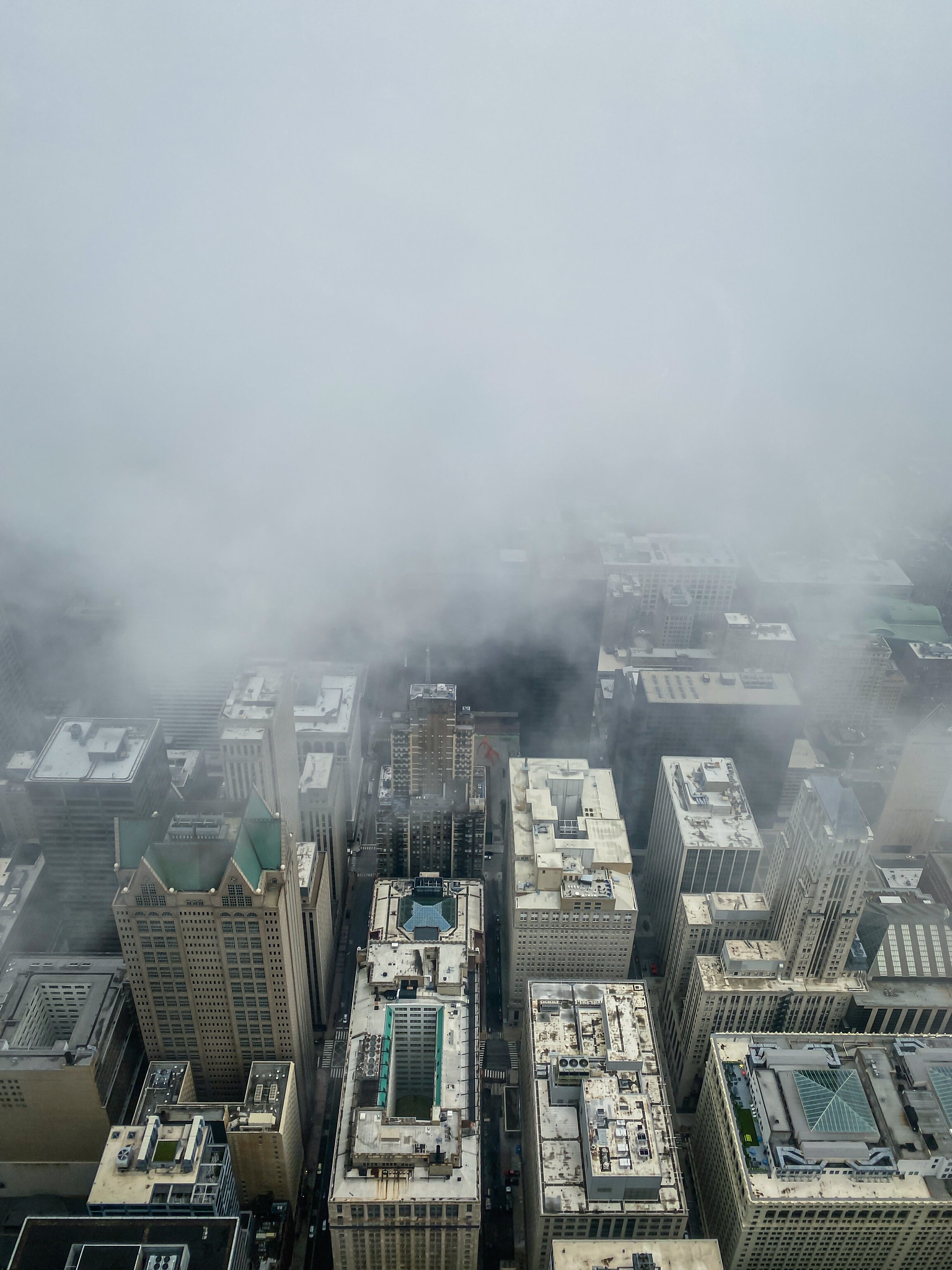 View of fog at Skydeck Willis Tower