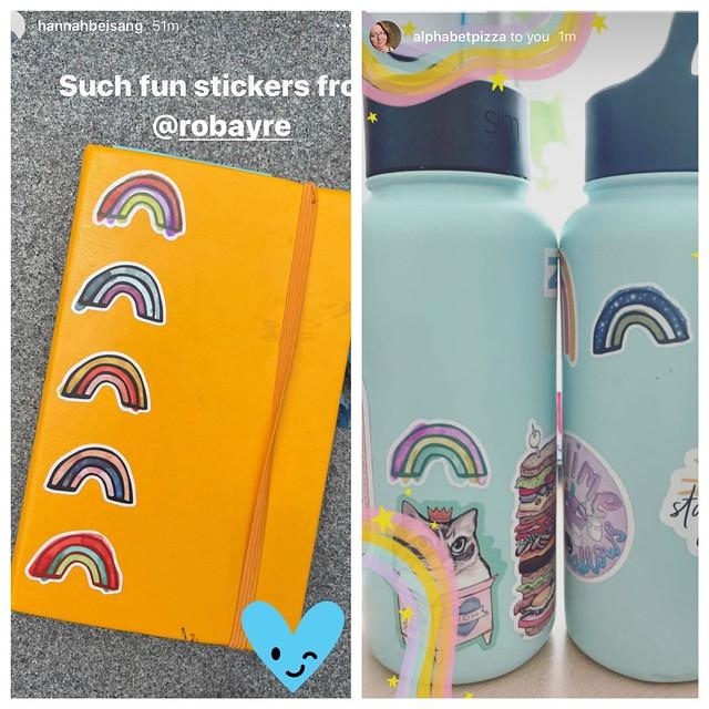 Rainbow stickers by robayre