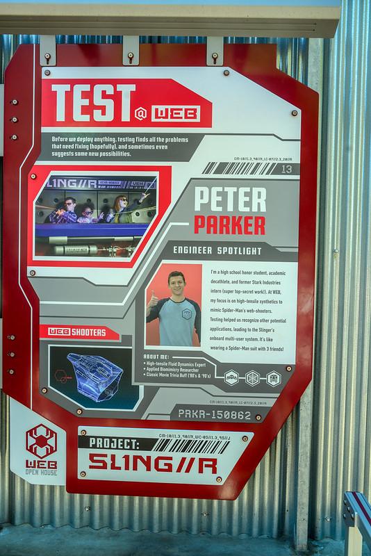 WEB Slingers Peter Parker sign DCA
