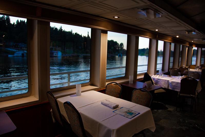 interior tables at dusk