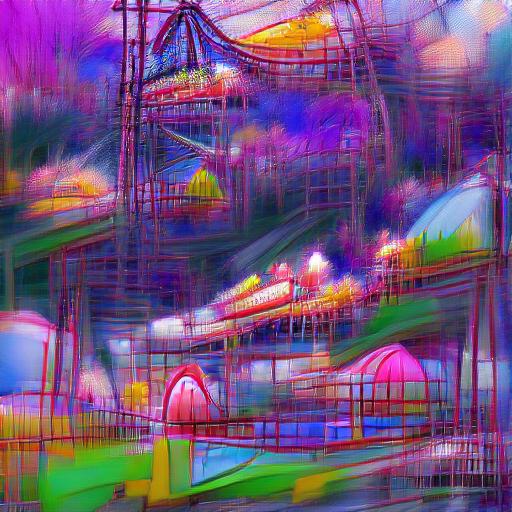 'digital art of an amusement park' VQGAN+CLIP codebook Text-to-Image