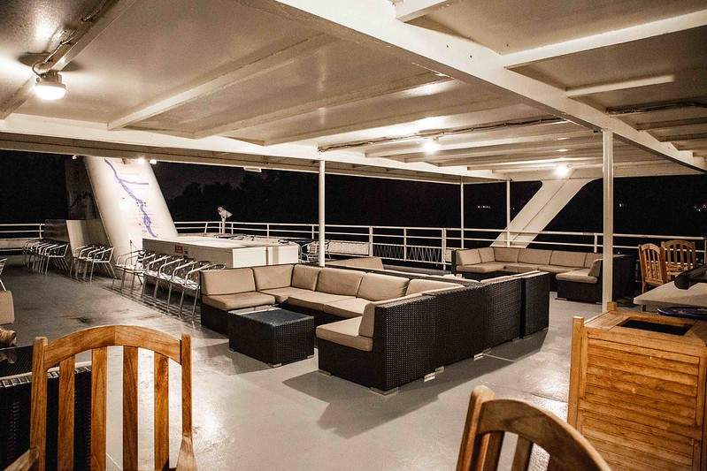 top deck with couches
