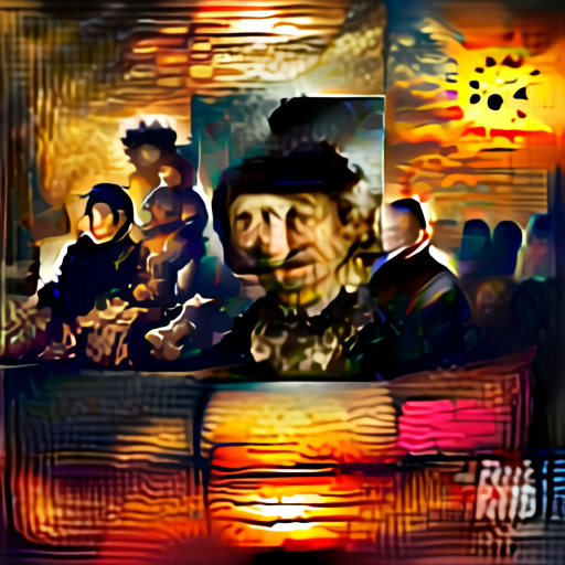 'a sunset in the style of Rembrandt' Aleph2Image Delta Text-to-Image