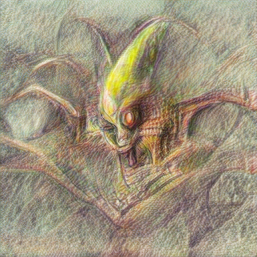 'a pencil sketch of an evil alien' Text2Image v2 Text-to-Image