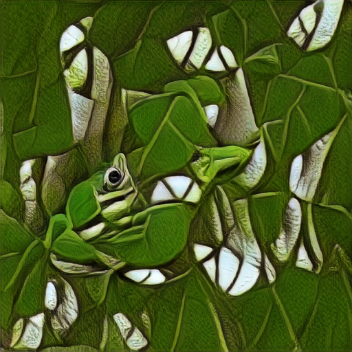 'a green tree frog in the style of M C Escher' Text2Image v2 Text-to-Image