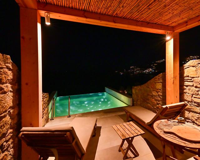 Habitación del hotel Amazon en Mykonos