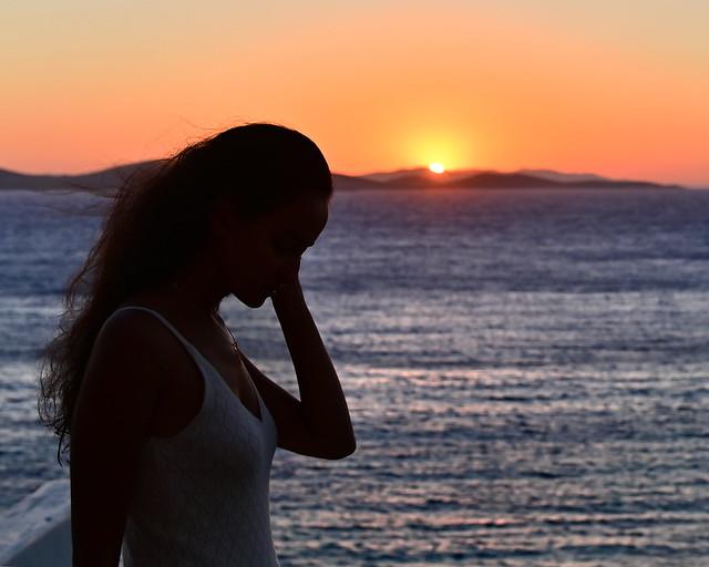 Puesta de Sol en Mykonos desde nuestro hotel