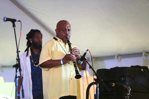 Shannon Powell Traditional Jazz All-Stars at Satchmo SummerFest 2021. Photo by Michele Goldfarb.