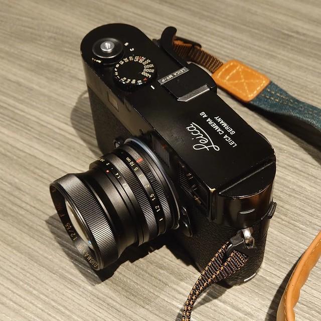 Ms optics Elnomaxim 55mm F1.2 x Leica M9P