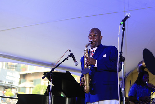 James Williams & the New Orleans Swamp Donkeys at Satchmo SummerFest 2021. Photo by Michele Goldfarb.