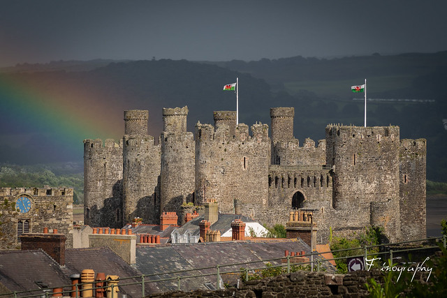 Conwy Castle Rainbow
