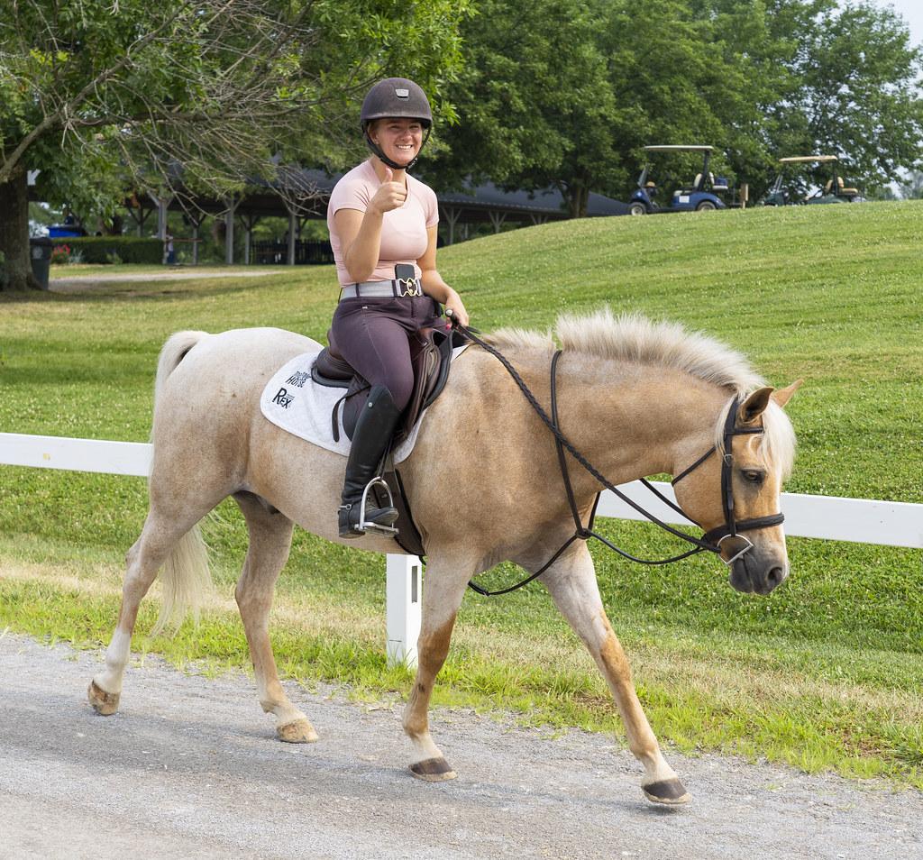 Horseback Thumbs Up