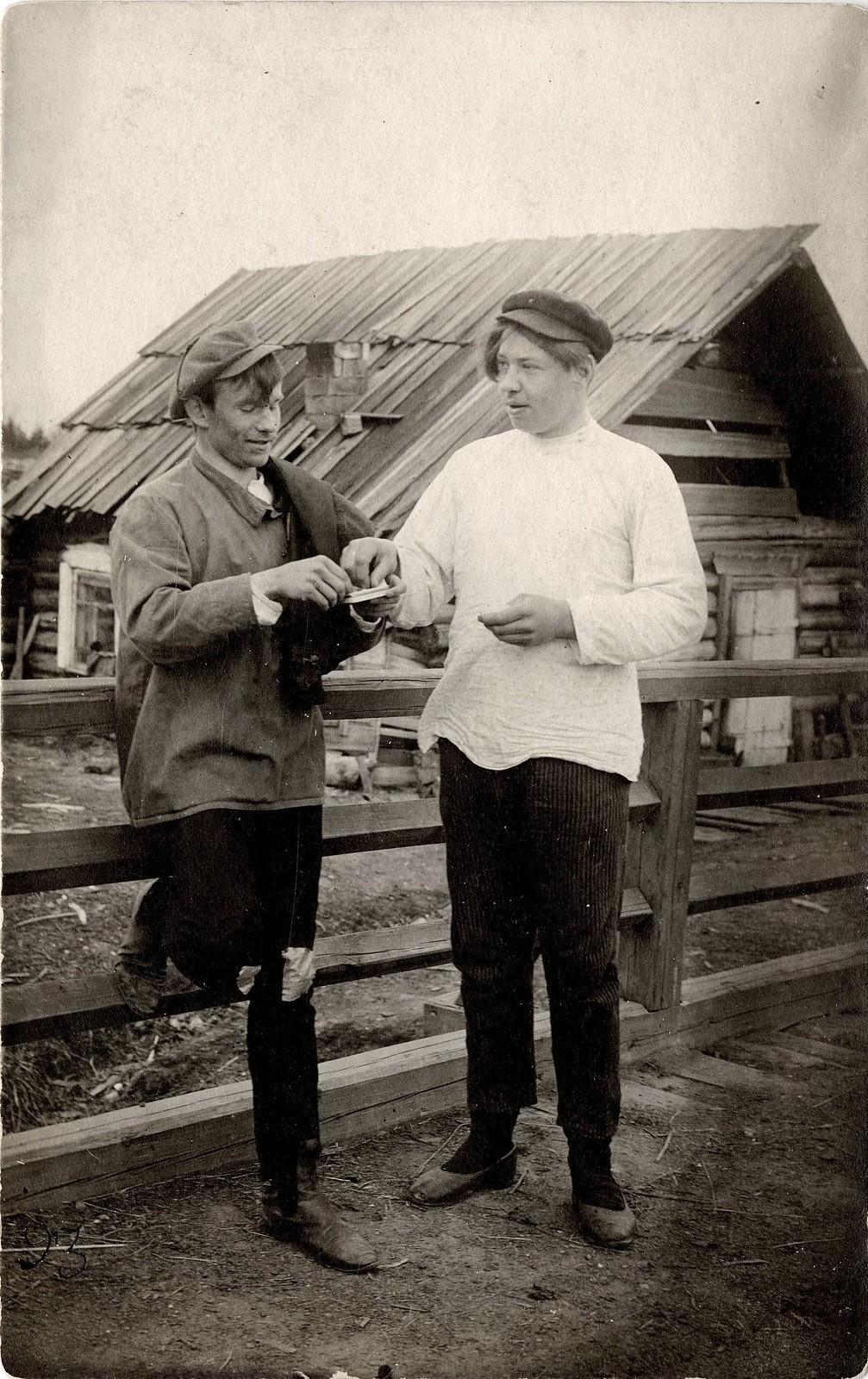 1913. Шуточная сценка «Закурим»