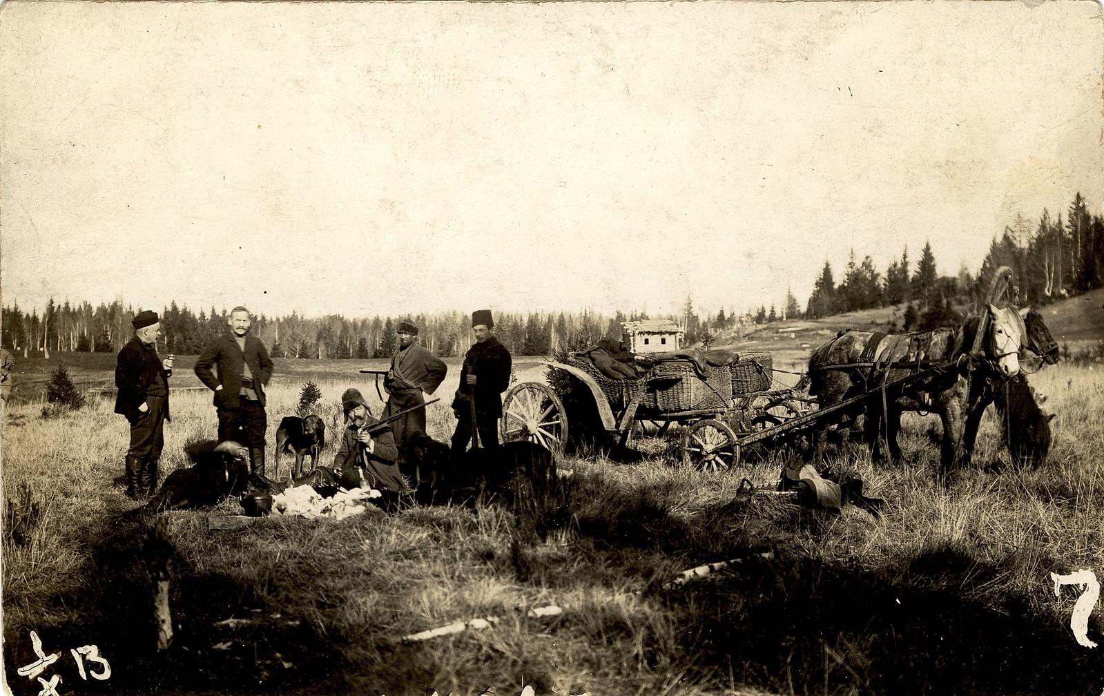 1913. На охоте в окрестностях Знаменского стекольного завода
