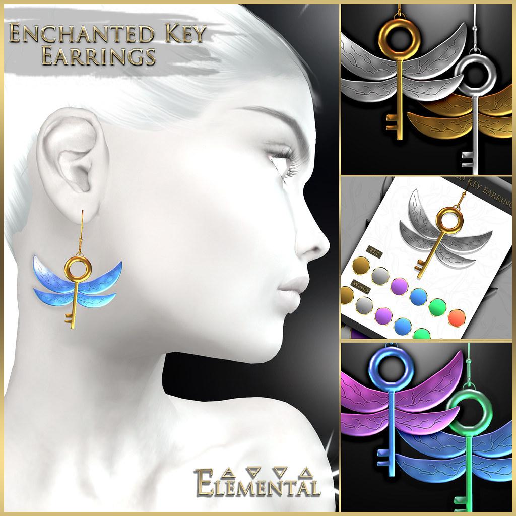 - ELEMENTAL - 'Enchanted Key' Earring Advert