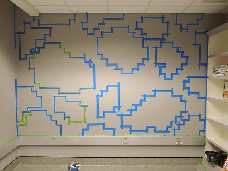 Mural Design Taped