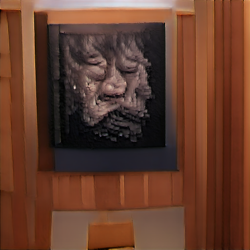 'an ultrafine detailed painting of a crying person made of voxels' Big Sleep Minmax Text-to-Image