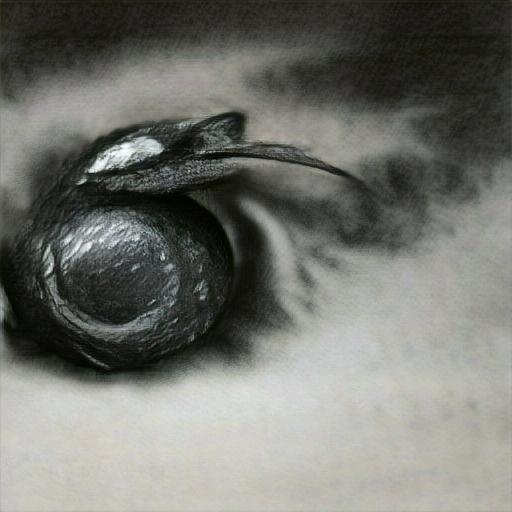 'a charcoal drawing of an eyeball' Big Sleep Minmax Text-to-Image