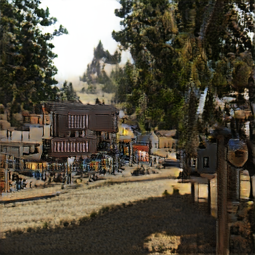 'a western town' The Big Sleep Customized Text-to-Image