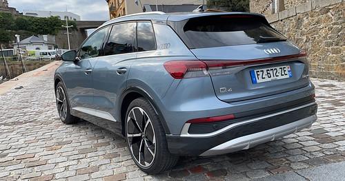 Essai Audi Q4 e-tron Sline et design Luxe
