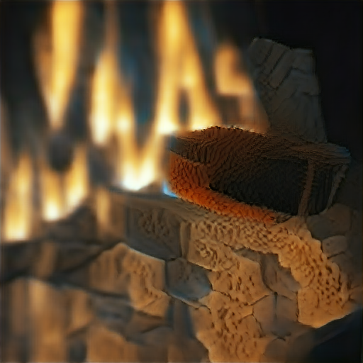 'a fireplace made of voxels' Text2Image v2 Text-to-Image