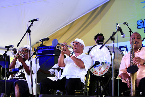 Preservation Hall Brass Band at Satchmo SummerFest 2021. Photo by Michele Goldfarb.