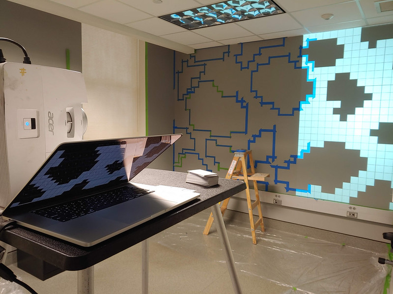 Using a Projector to Tape Off Mural Design