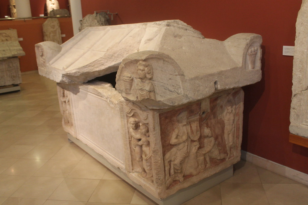 Sarcophagus with relief of Marsyas