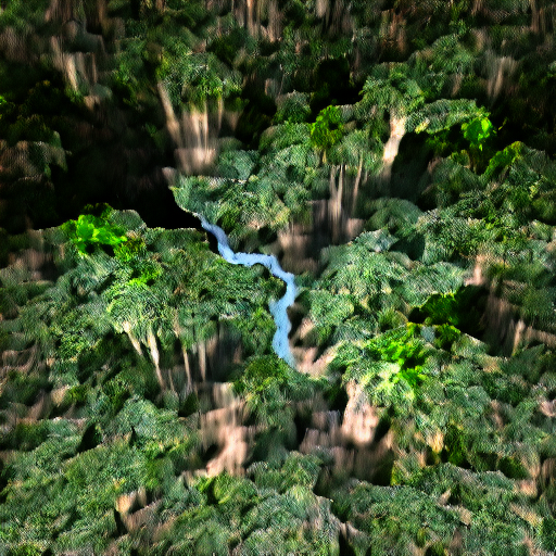 'a raytraced image of the Amazon Rainforest' VQGAN Gumbel Text-to-Image