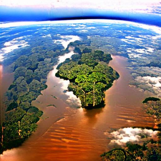'the Amazon Rainforest' VQGAN+CLIP v3 Text-to-Image