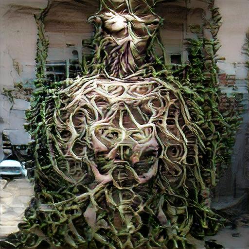 'medusa made of vines' The Big Sleep Customized Text-to-Image