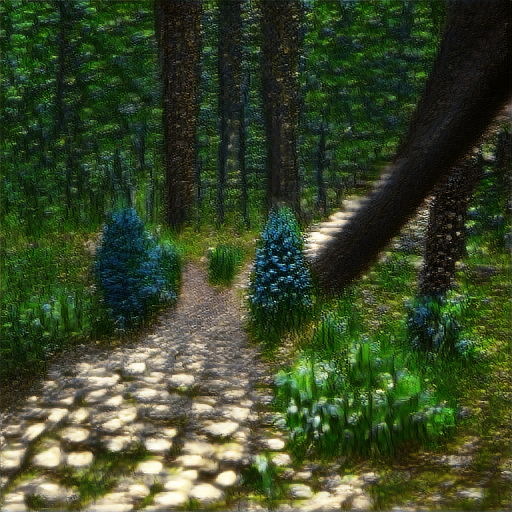 'a forest path' The Big Sleep Customized Text-to-Image
