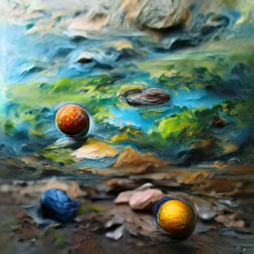 'a hyperrealistic painting of planets' OpenAI DVAE+CLIP Text-to-Image
