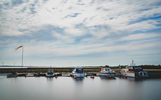 Boats in Haverslev Havn, Danmark