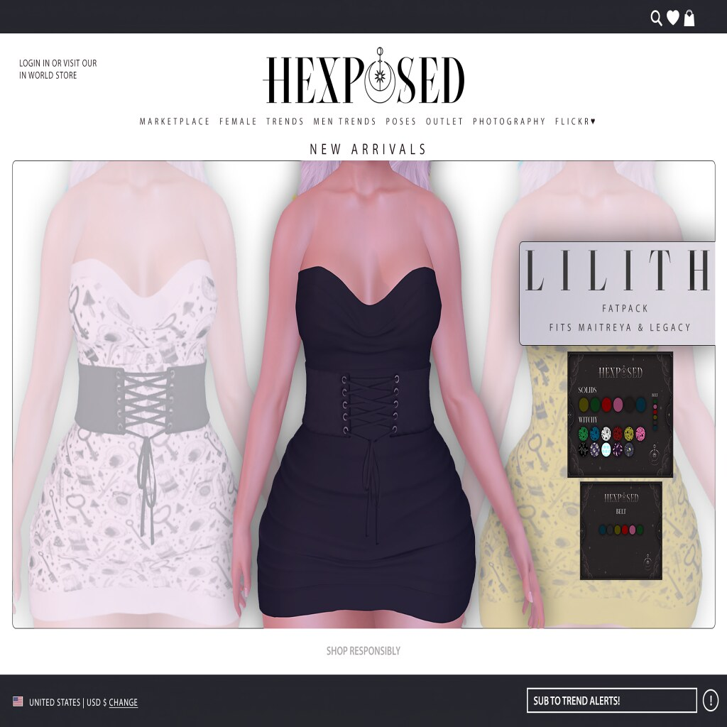 Lilith Dress is available for Miix Weekend @ Mainstore