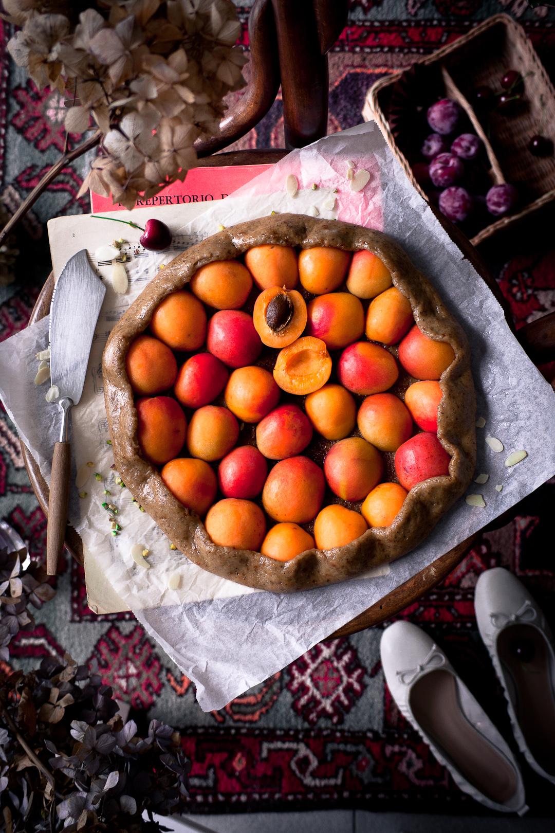 apricot vegan galette