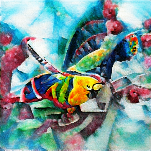 'a watercolor painting of a colorful parrot in the style of Kandinsky' The Big Sleep Customized Text-to-Image