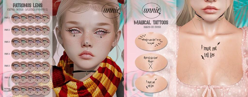 Unnie – Patronus Eyes & Magical Tattoos