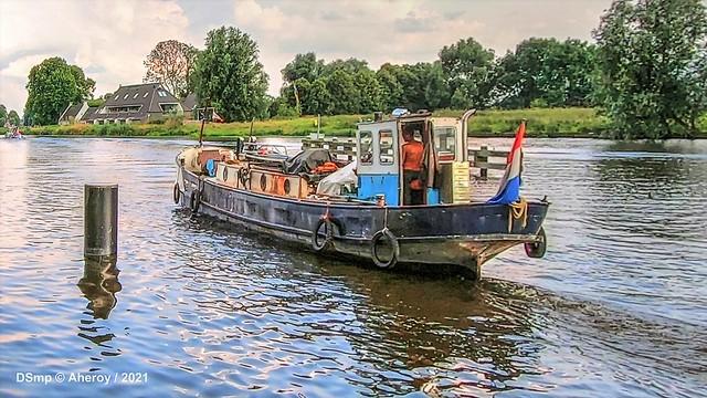 Boat on Reitdiep, Groningen Stad, the Netherlands