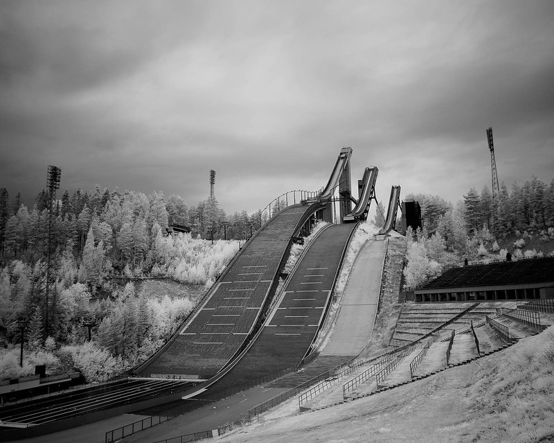 Infrared of the day 69 Ski jumping stadion in Lahti