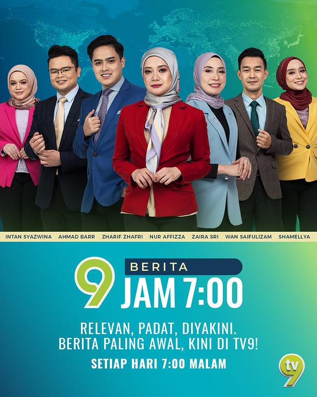 Dapatkan Informasi Terawal Di Berita Tv9 Jam 7 Malam Lebih Relevan, Padat &Amp; Diyakini